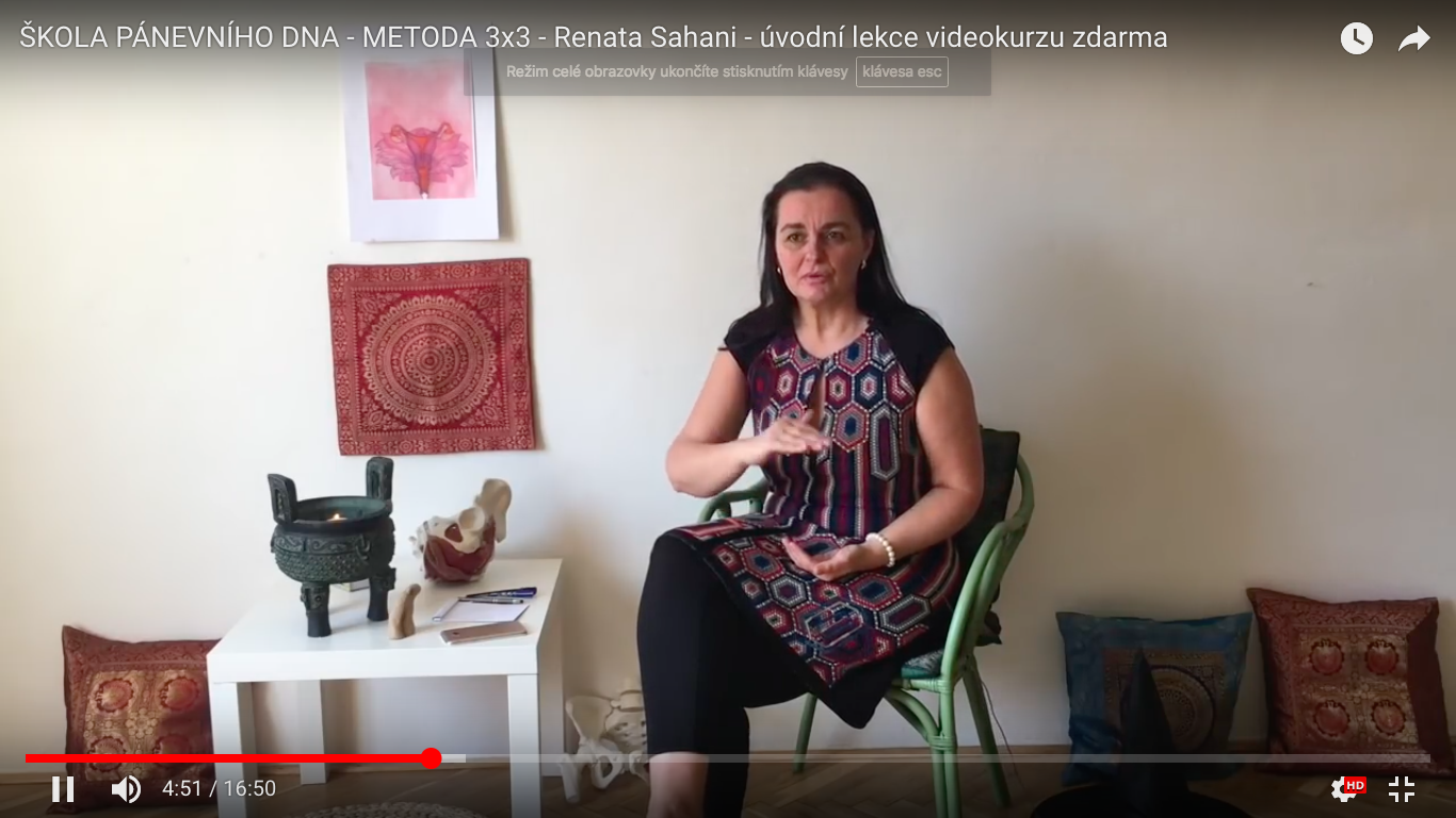 1. video - meditace, kontakt se 3 rovinami